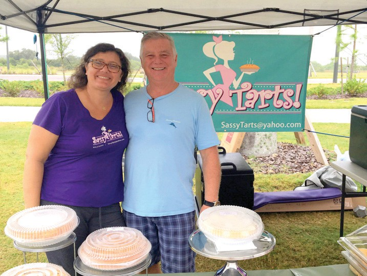 Sassy Tarts owners Stephanie Brocardi Albin and Darel Albin offer mouth-watering French tarts and American pies.